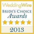 2013 WeddingWire Bride\'s Choice Awards